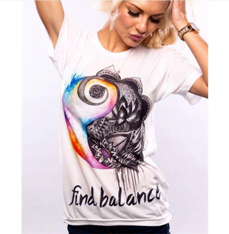 Dámské moderní tričko s potiskem balance – VELIKOST L Na tento produkt se  vztahuje nejen zajímavá sleva 5344afed97