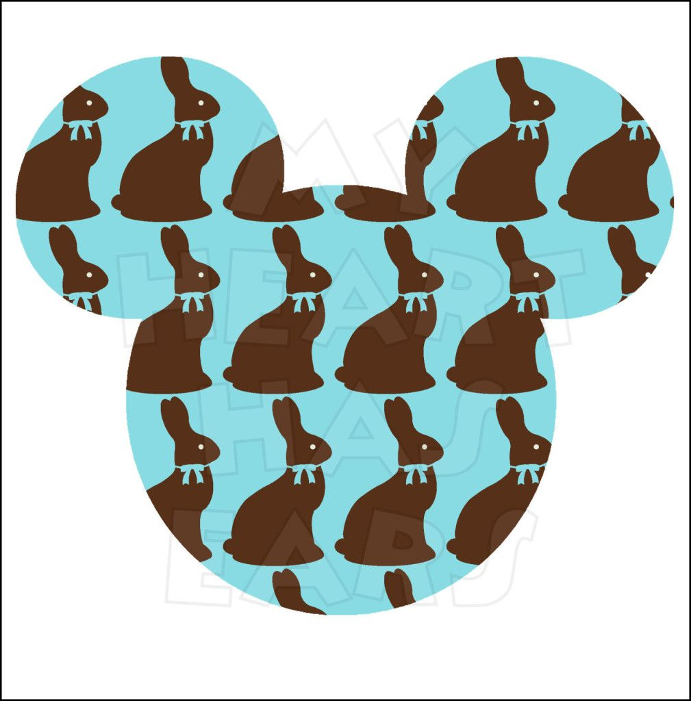Mickey Mouse with chocolate Easter bunnies INSTANT ...