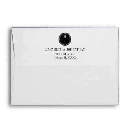 Simple And Elegant Wedding Invitation Envelope Zazzle Com