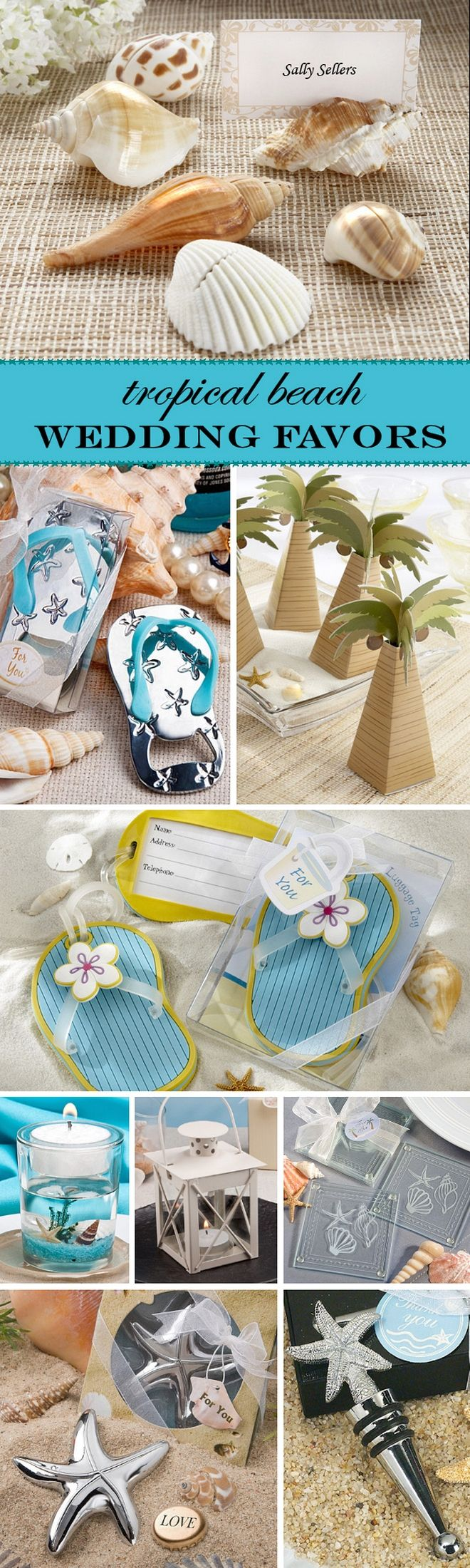 Amazing Tropical u0026 Beach Themed Wedding Favor