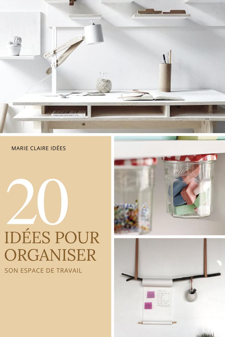 11 DIY pour ranger son bureau Bureaus Organizing and Ranges