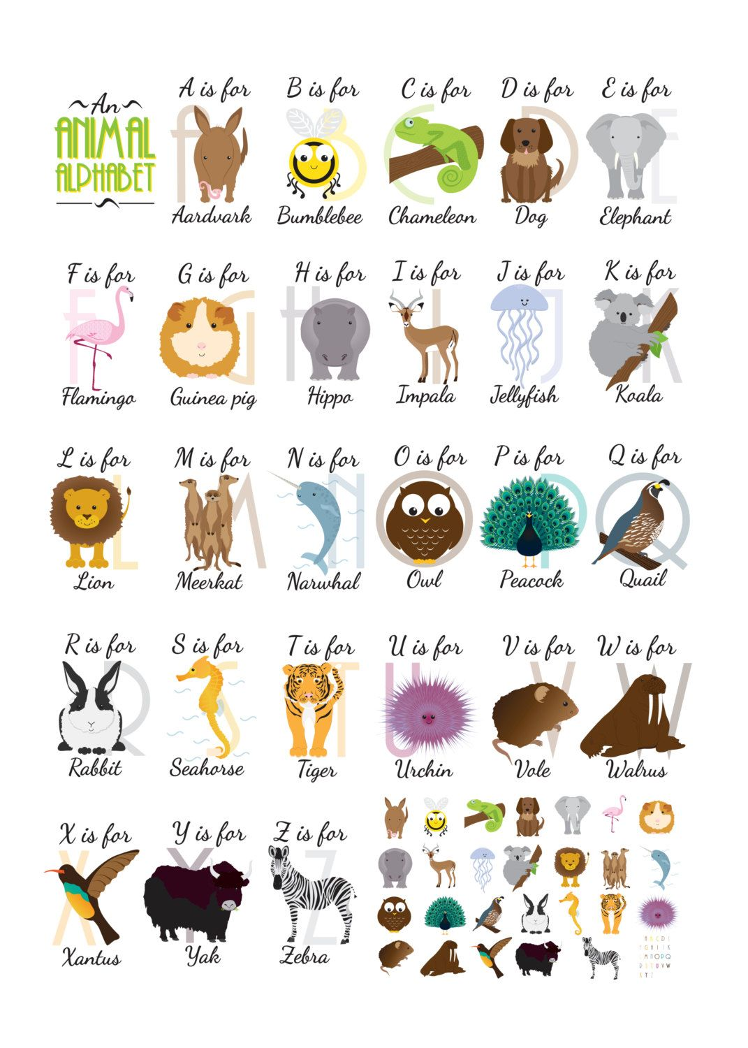 An Animal Alphabet With Images