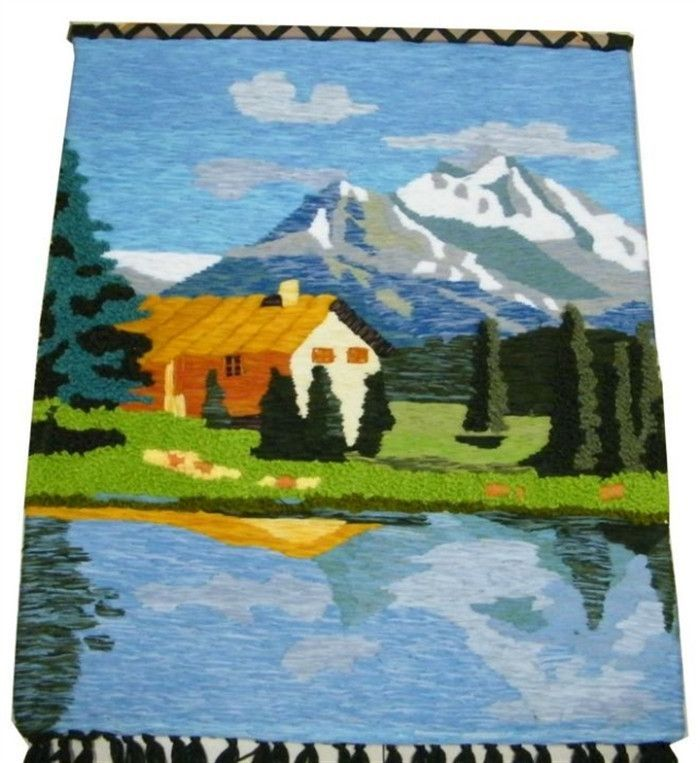 Handmade art tapestry tapestry wall mural decoration classic Village Hall