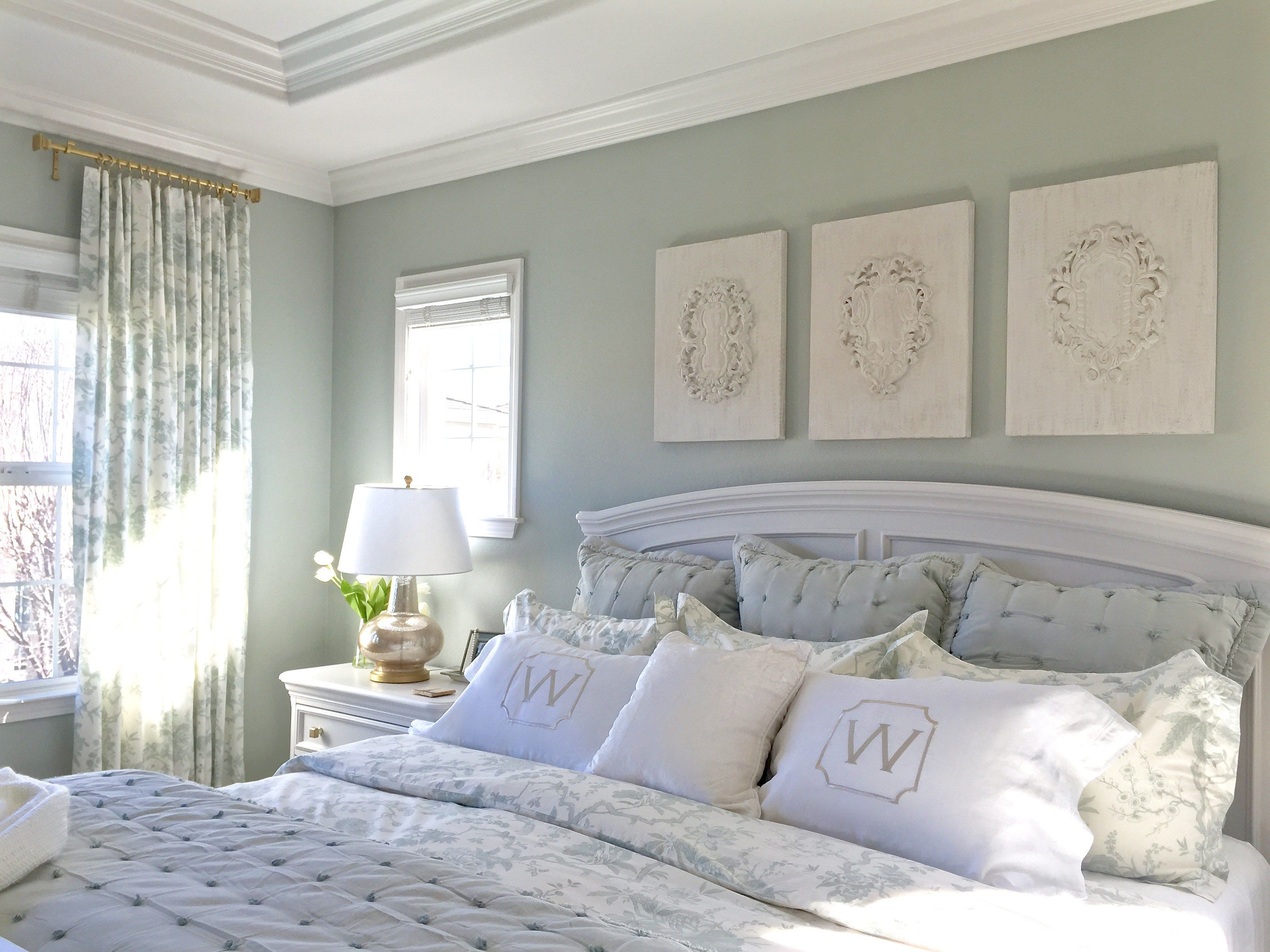 Master Bedroom Reveal With Ballard Designs Sherwin Williams Elder White