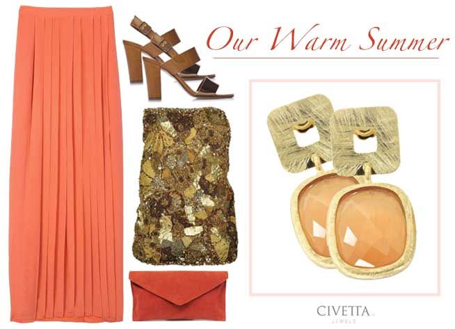 Live Your warm#summer2014: Geometric #earrings, faceted peach quartz, scratched gold plating, 100% pure lines.  Available in our web-store --> http://bit.ly/1jsXAXY  #Jewels #JewelDesign #WeLoveIt #LikeAPrincess #Style #Outfit #Beautiful #Precious #MadeInItaly #Precious #Gemstones