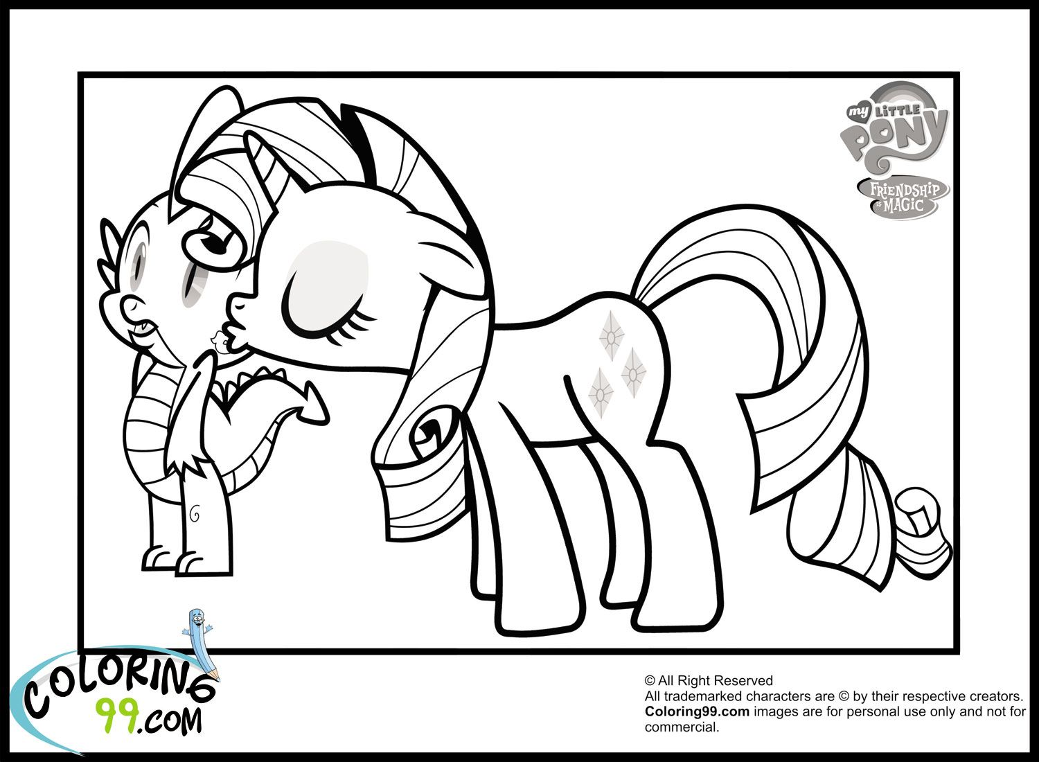 my little pony coloring pages my little pony rarity coloring