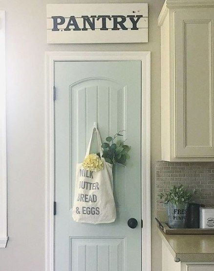 56+ Super Ideas For Farmhouse Kitchen Paint Colors Pantry Doors #farmhousekitchencolors