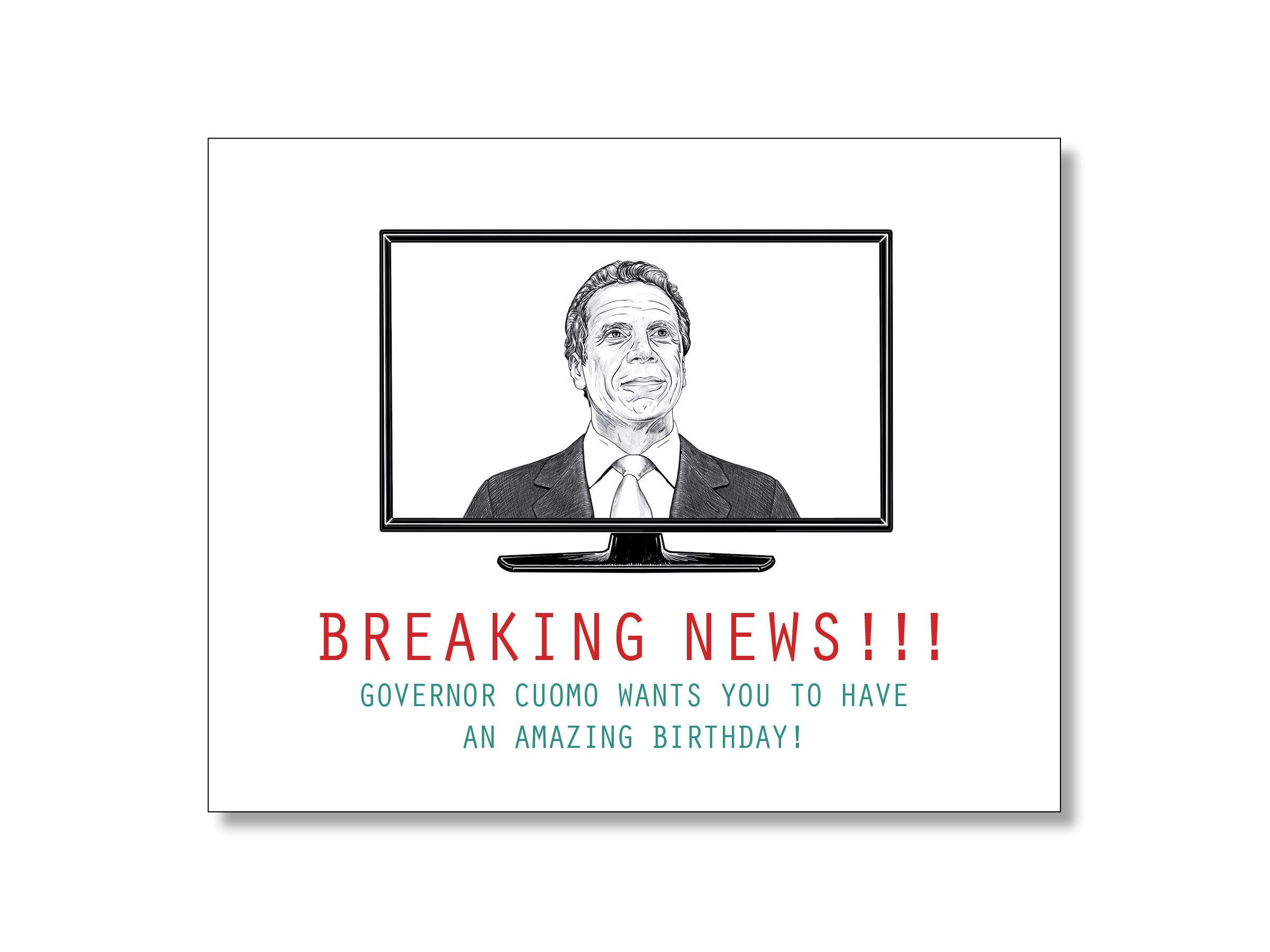 Governor Cuomo Birthday Card Funny Liberal Birthday Card Social Distancing Birthday Card Andrew C In 2020 Funny Fathers Day Card Funny Birthday Cards Birthday Cards