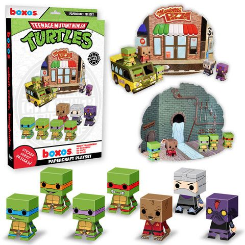 Papercraft Playset: Teenage Mutant Ninja Turtles | Funko