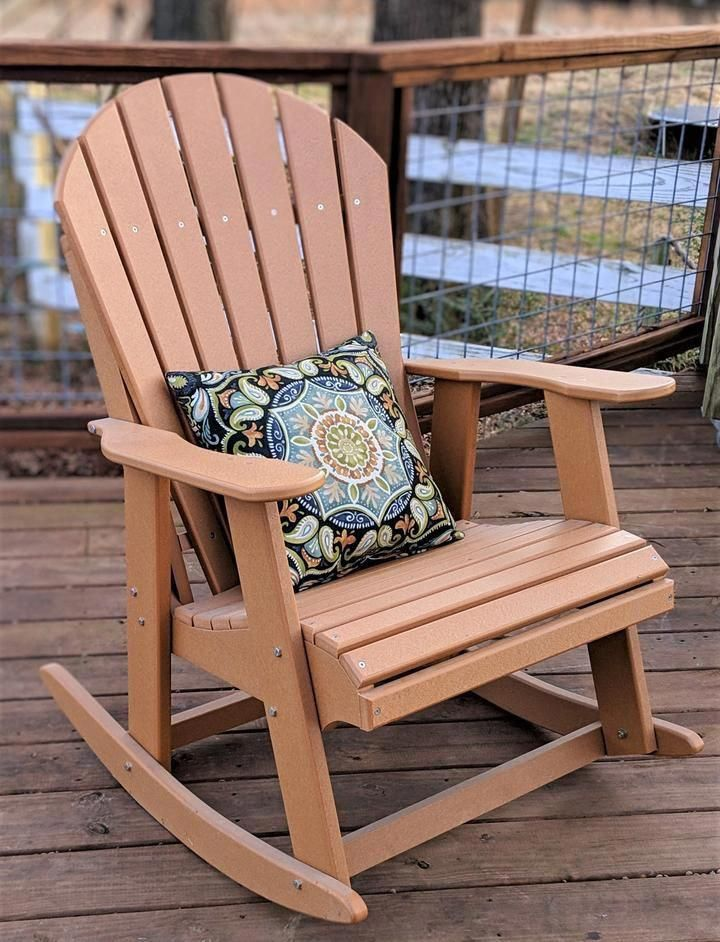 Poly Adirondack Rocking Chair Adirondackchair Rocking Chair Adirondack Rocking Chair Rustic Furniture