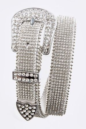 Rhinestone Covered Belt
