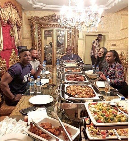Ex #BBNaija Housemates, Uriel, Bassey & Kemen Visit Billionaire Ateke Tom (Pictures)