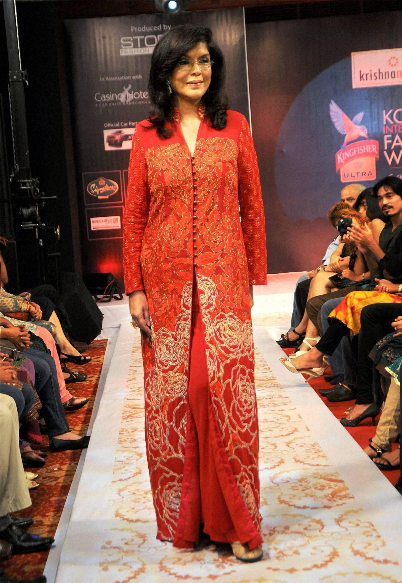 Zeenat Aman walking the ramp at  Kochi International Fashion Week  in Kochi. db8787b3bd6