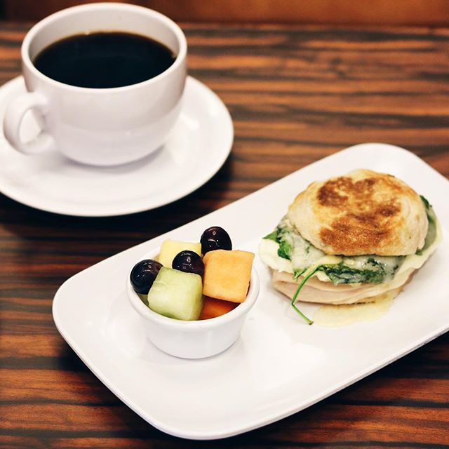 Stay strong with a cup of Starbucks coffee paired with our Healthy Start Breakfast Sandwich!