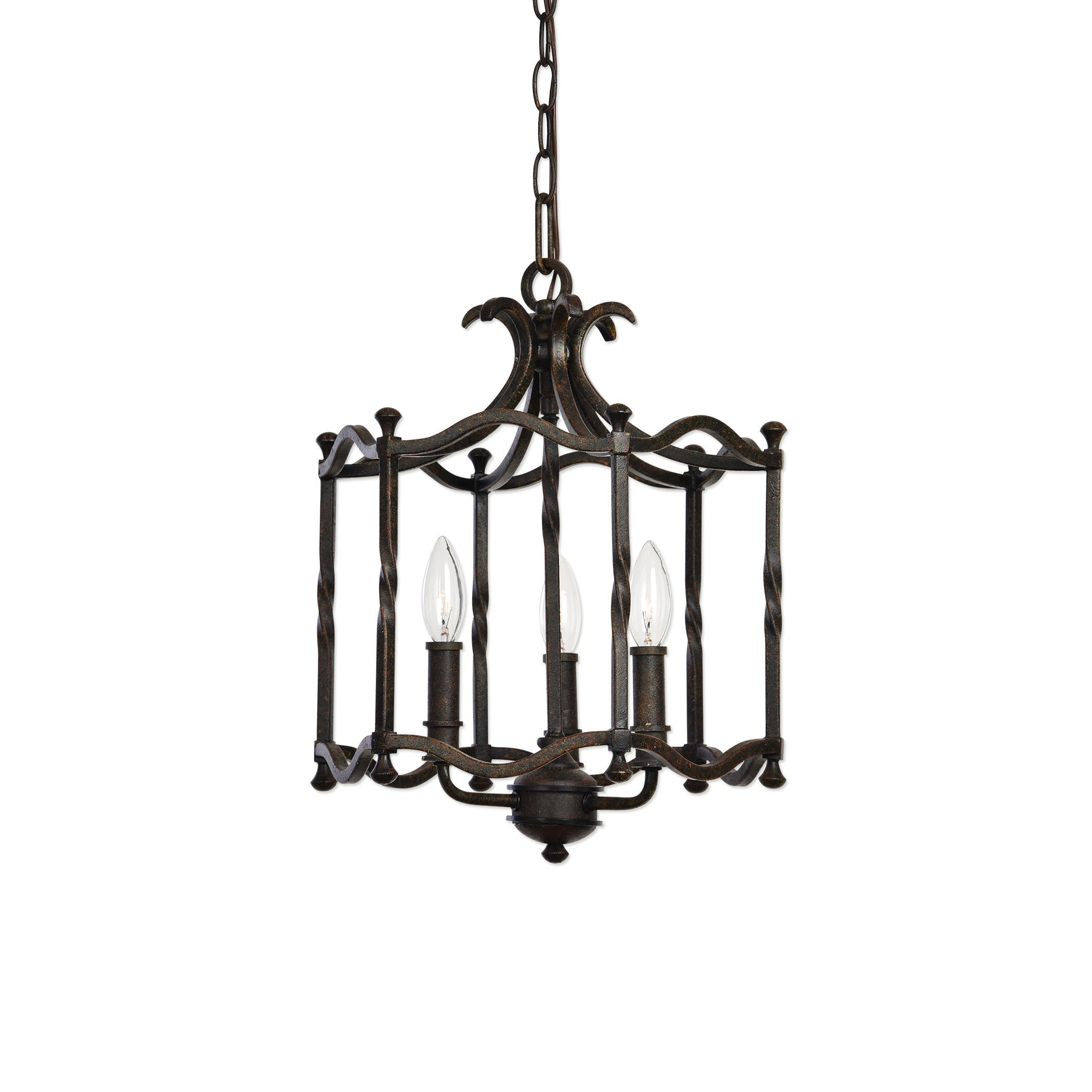 Candela old world 3 light pendant lighting fixture by uttermost candela old world 3 light pendant lighting fixture by uttermost mozeypictures Image collections
