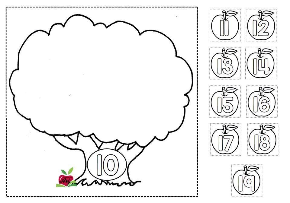 Trabajamos Las Familias De Números Con Fichas Para Colorear Recortar Y Pegar Orientacion Andujar Fichas Familias De Números Familia Del 10