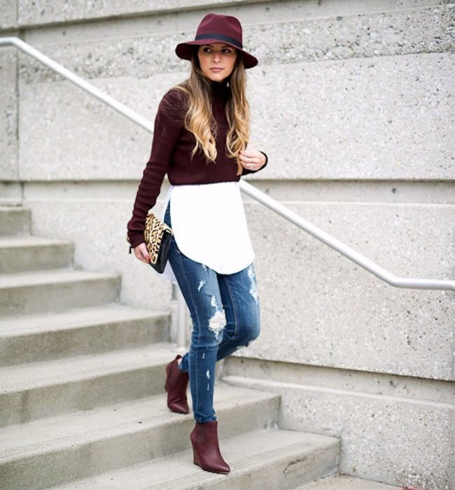 a7d6042bf3 5 Looks That Put Burgundy Boots On Our Must-Have List