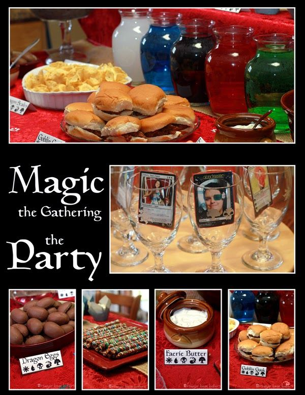 Magic The Gathering Party Sugar Bean Bakers Party Plans