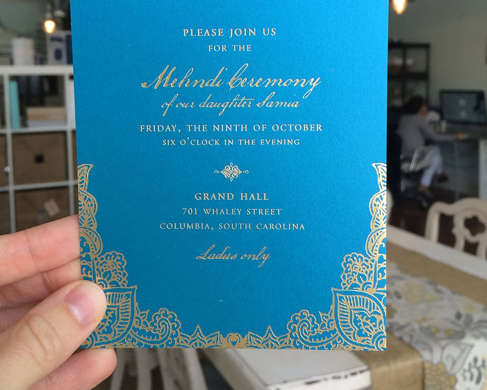 Samia Affan S Pakistani Wedding Mehndi Invitation Studio R Invitations Wedding Mehndi Wedding Invitations