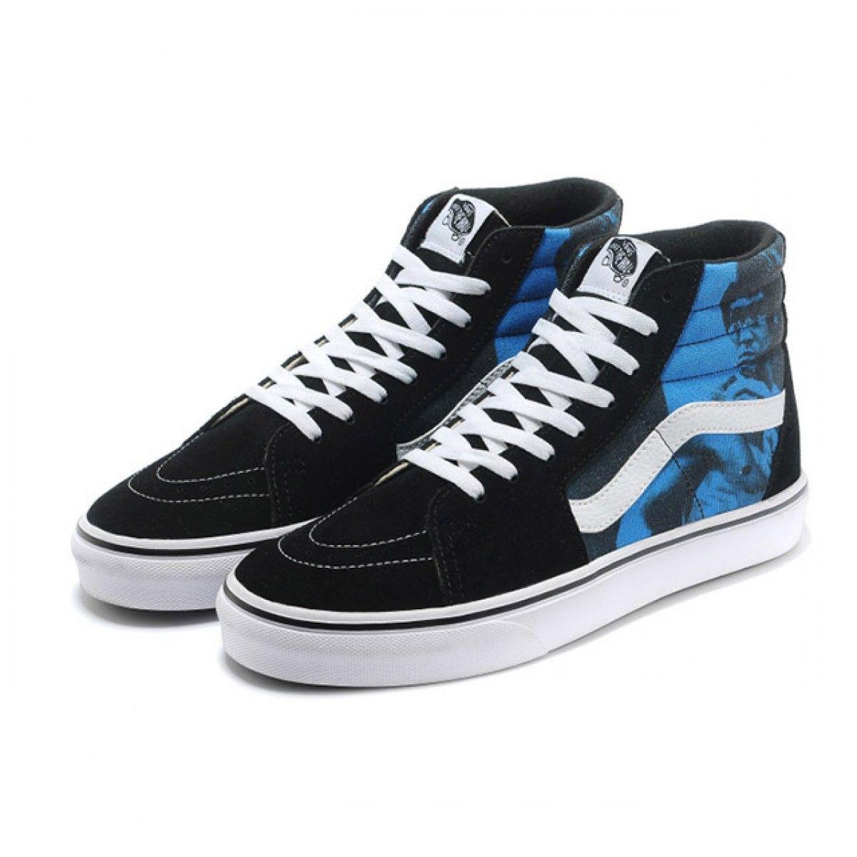 fbe3be00d88c Vans Shoes Black Blue Supreme X Bruce Lee Sk8-Hi Shoes Mens Classic Canvas