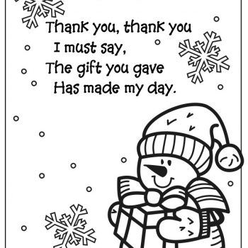 Snowman Coloring Page Thank You Fun Family Crafts Thank You Poems Snowman Coloring Pages Preschool Christmas Crafts