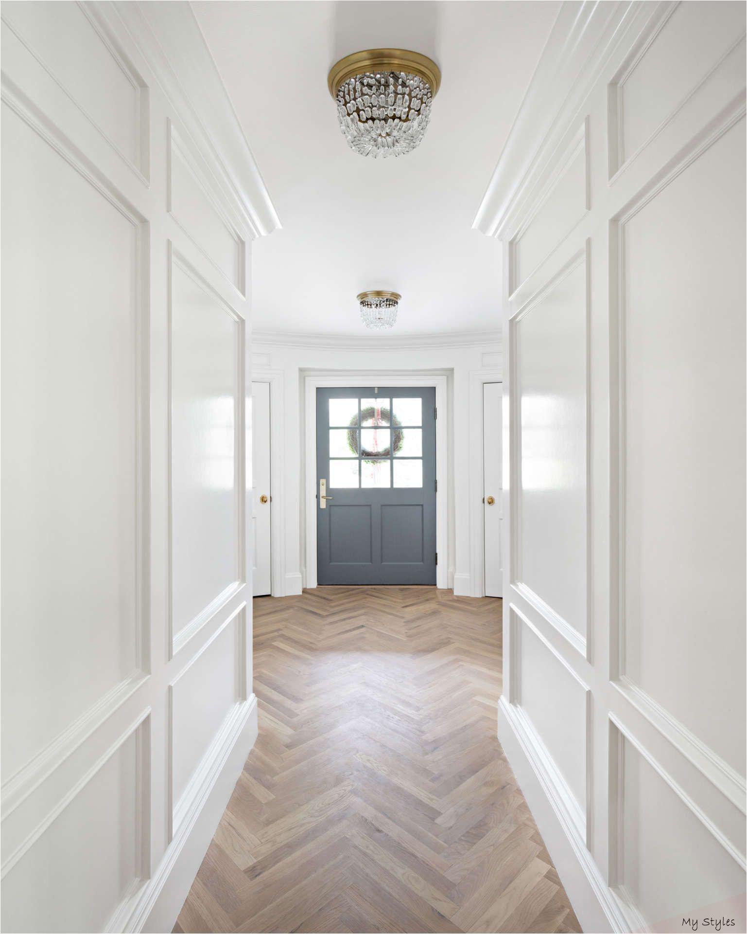 10 Gorgeous Timeless Design Ideas The Fox Group Hello Lovely Project Home In 2020 Herringbone Wood Floor Herringbone Floor Simply White Benjamin Moore