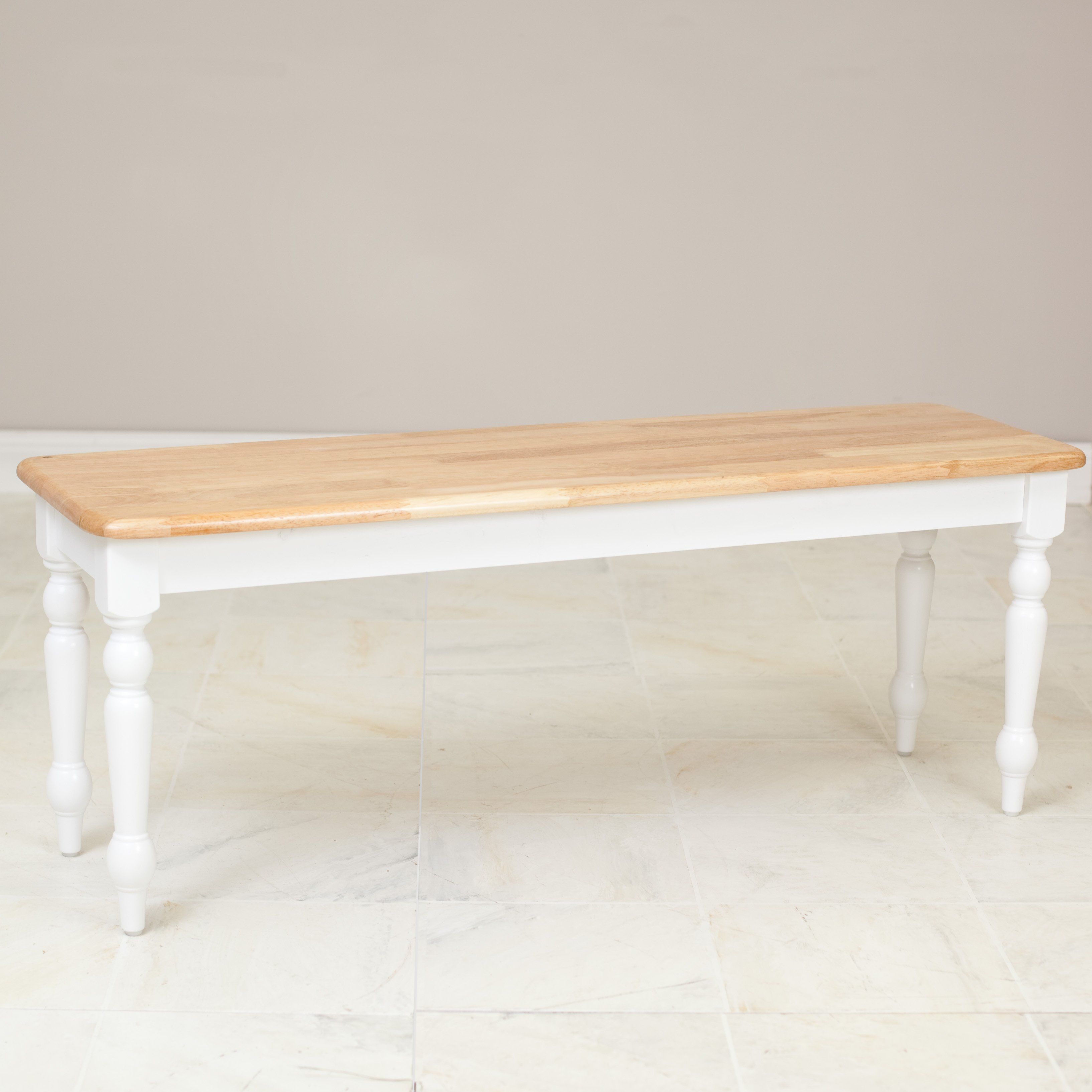 Surprising Have To Have It Boraam Farmhouse Dining Bench White Dailytribune Chair Design For Home Dailytribuneorg