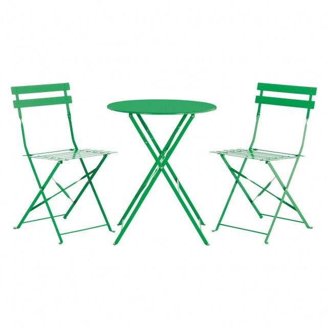 parc 2 seat green metal folding bistro table and chairs set beak rh pinterest com