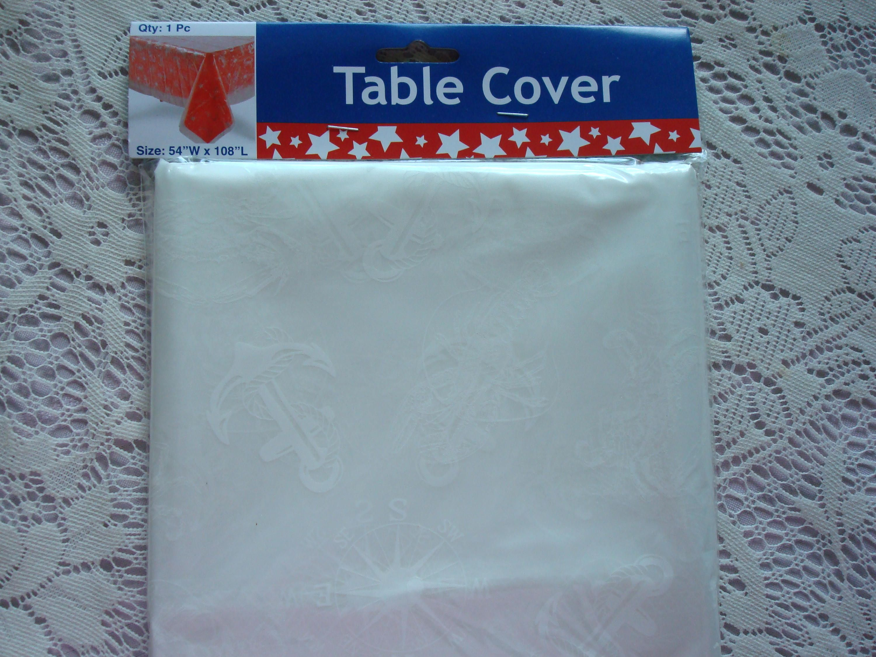 Nautical Baby Shower Tablecloth; Nautical Birthday Decor; Bon Voyage Party;  Baby On Board