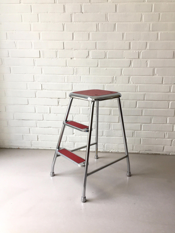Vintage stool, step stool Sweden, head, Midcentury Interior ...