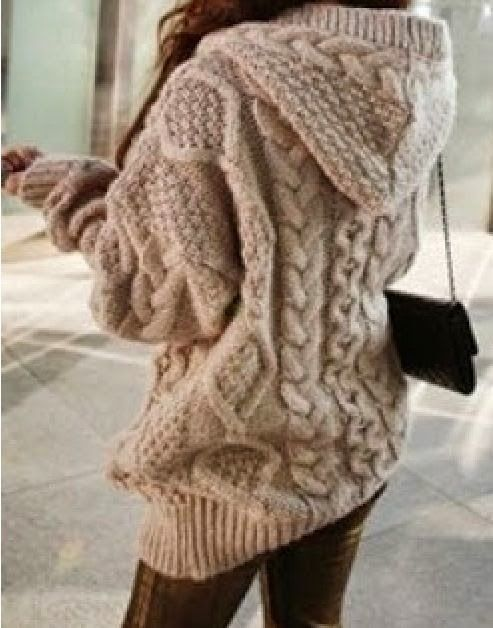 Cozy Hooded Sweater. #warmth -- something similar, there's no link ...
