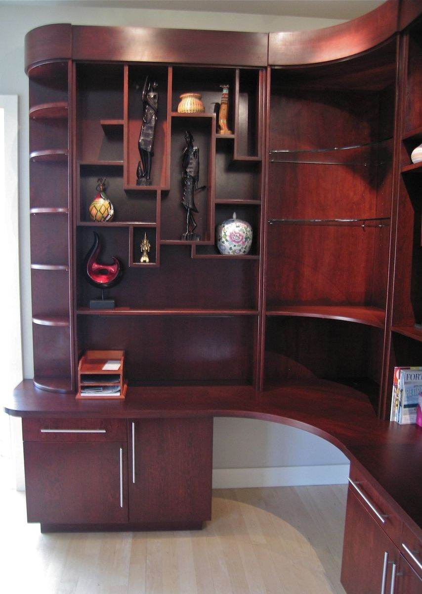 Integrated Office and Art Display Shelving (With images