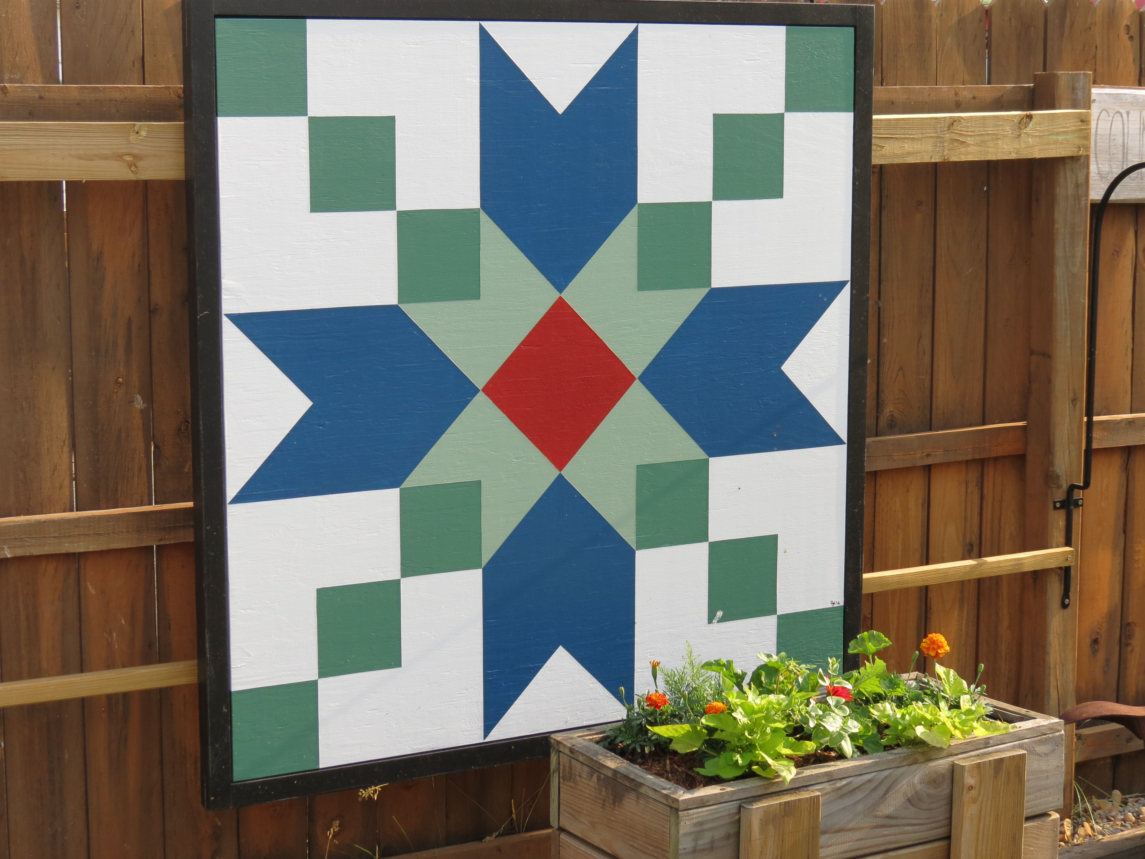 Barn Quilt...Christmas present from my children. | Barn Quilts ... : quilt patterns for barns - Adamdwight.com