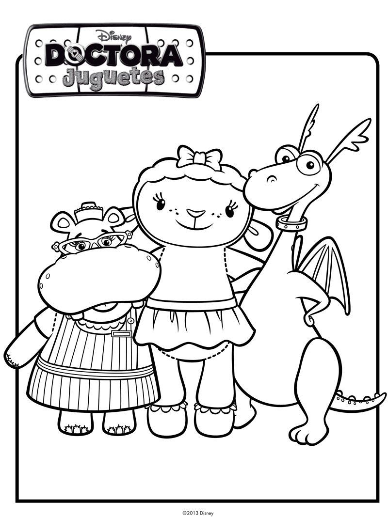 Dibujo de los amigos de Doctora Juguetes. Dibujos de Disney | лікар ...