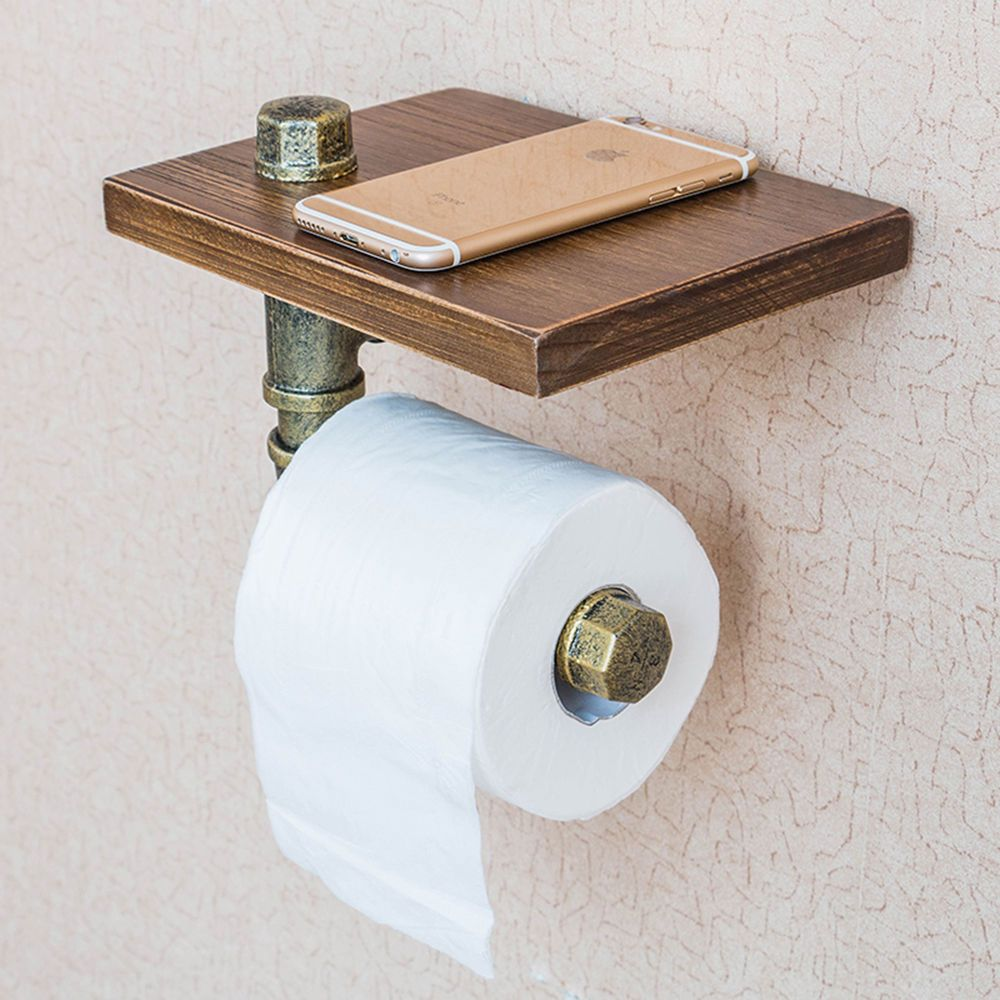 Toilet Paper Holder Unique Vintage Industrial Style Iron Pipe Toilet Paper Holder Roller With