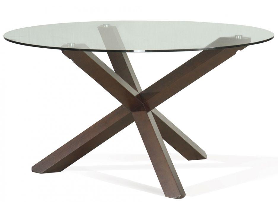 Table à Manger Centauri 6 Couverts Bois Et Verre Trempé Tables