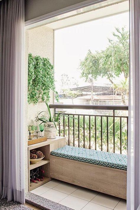40+ Cute Balcony Ideas for Small Apartment #narrowbalcony