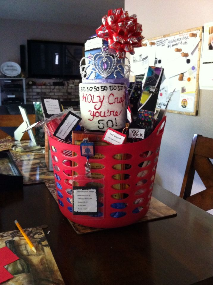 50th Birthday Gift Basket Funny Sayings Related To Age Found Most Of The Items