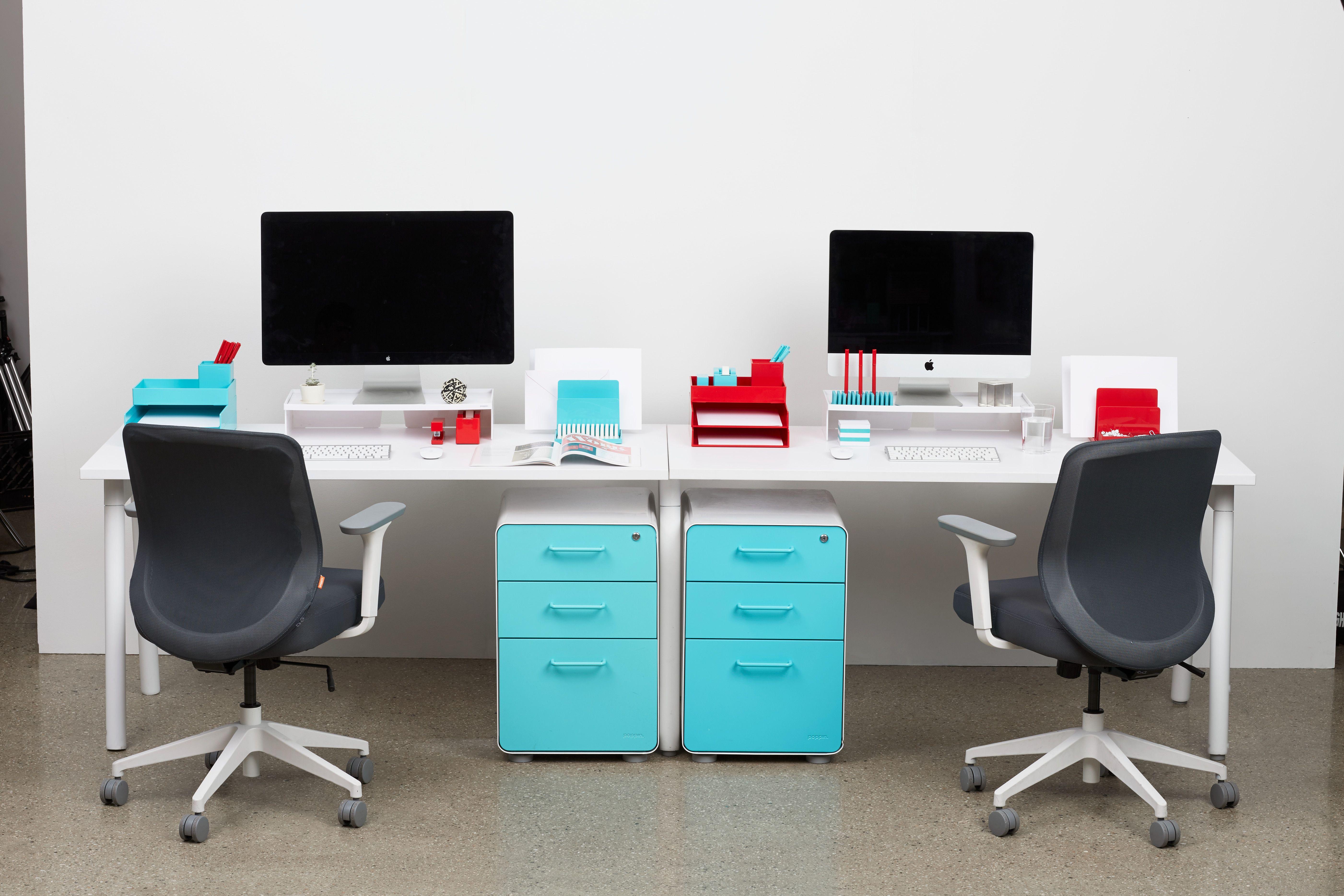 Poppin Series A Desk System Office Furniture Modern Desk