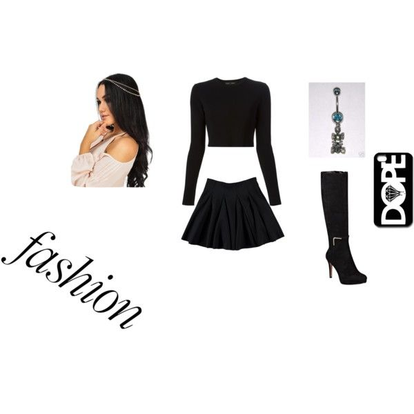 """""""All black everything"""" by wkeke1998 on Polyvore"""