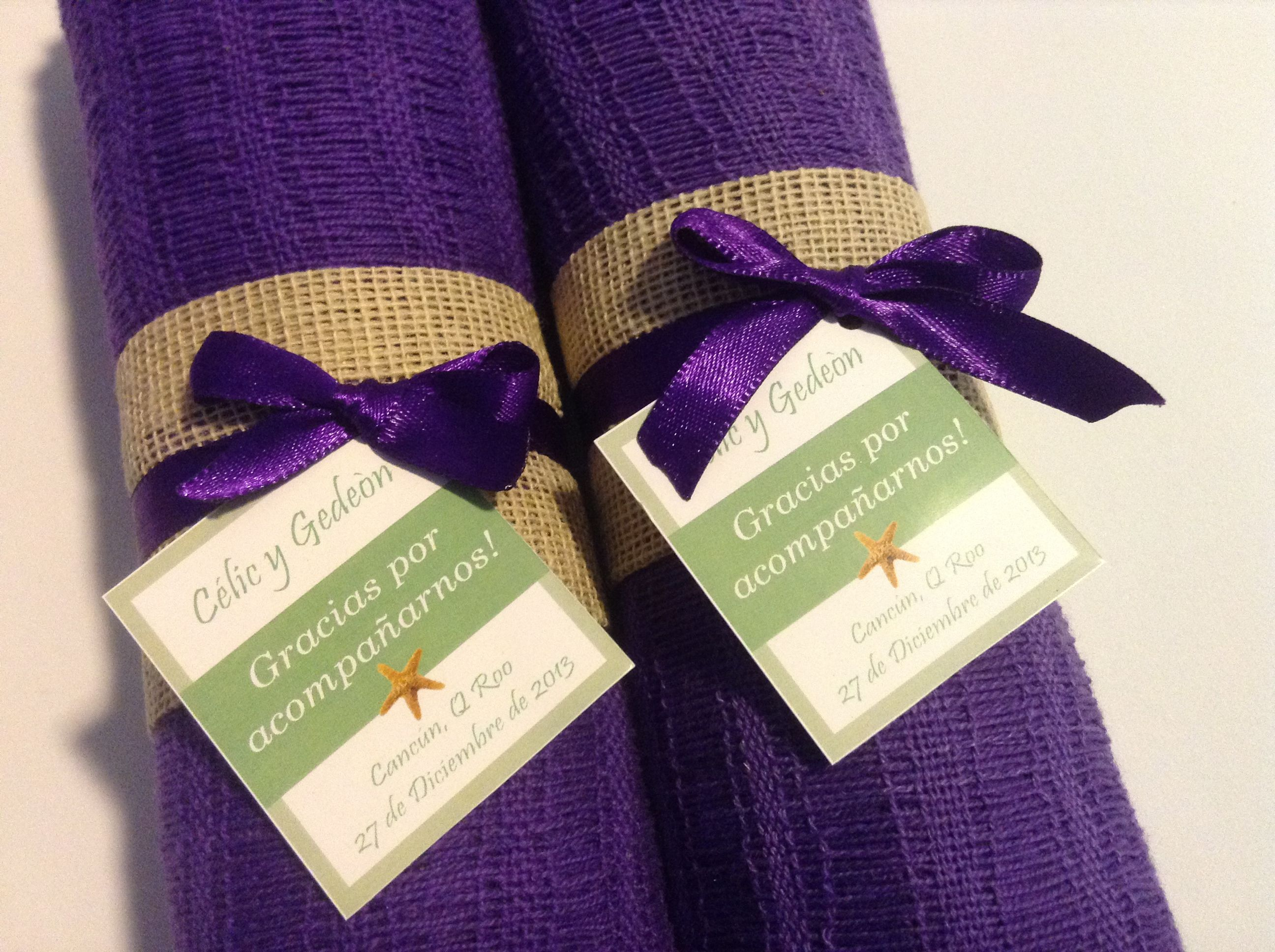 Chalinas Color Morado Purple Wedding Favor Pashmina Scarf