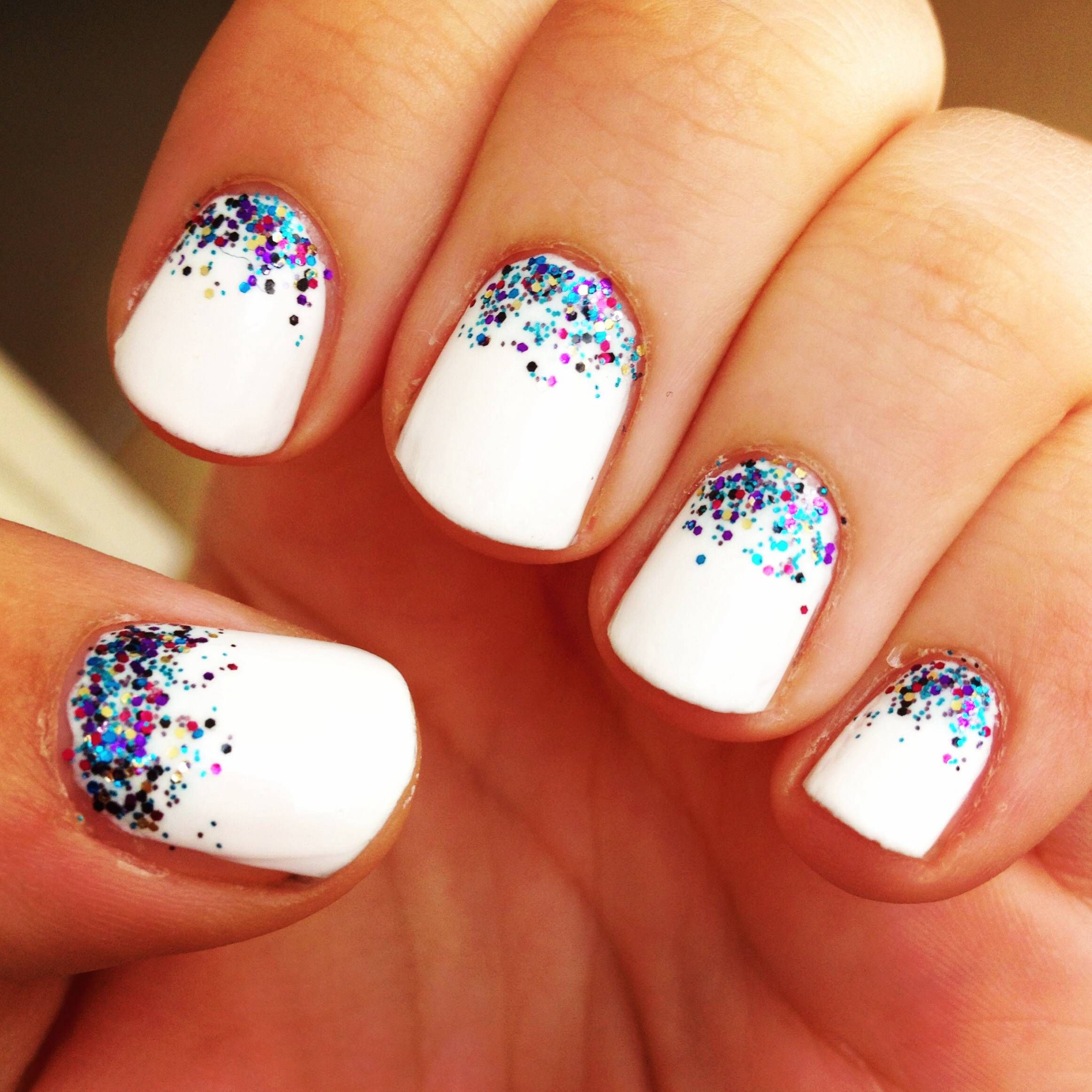 15 lovely and trendy nail designs | white nails, amethysts and makeup