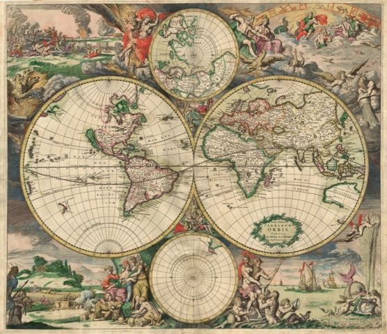 graphic regarding Printable Vintage Maps named free of charge attractive aged world-wide map printable Move In advance And Print It