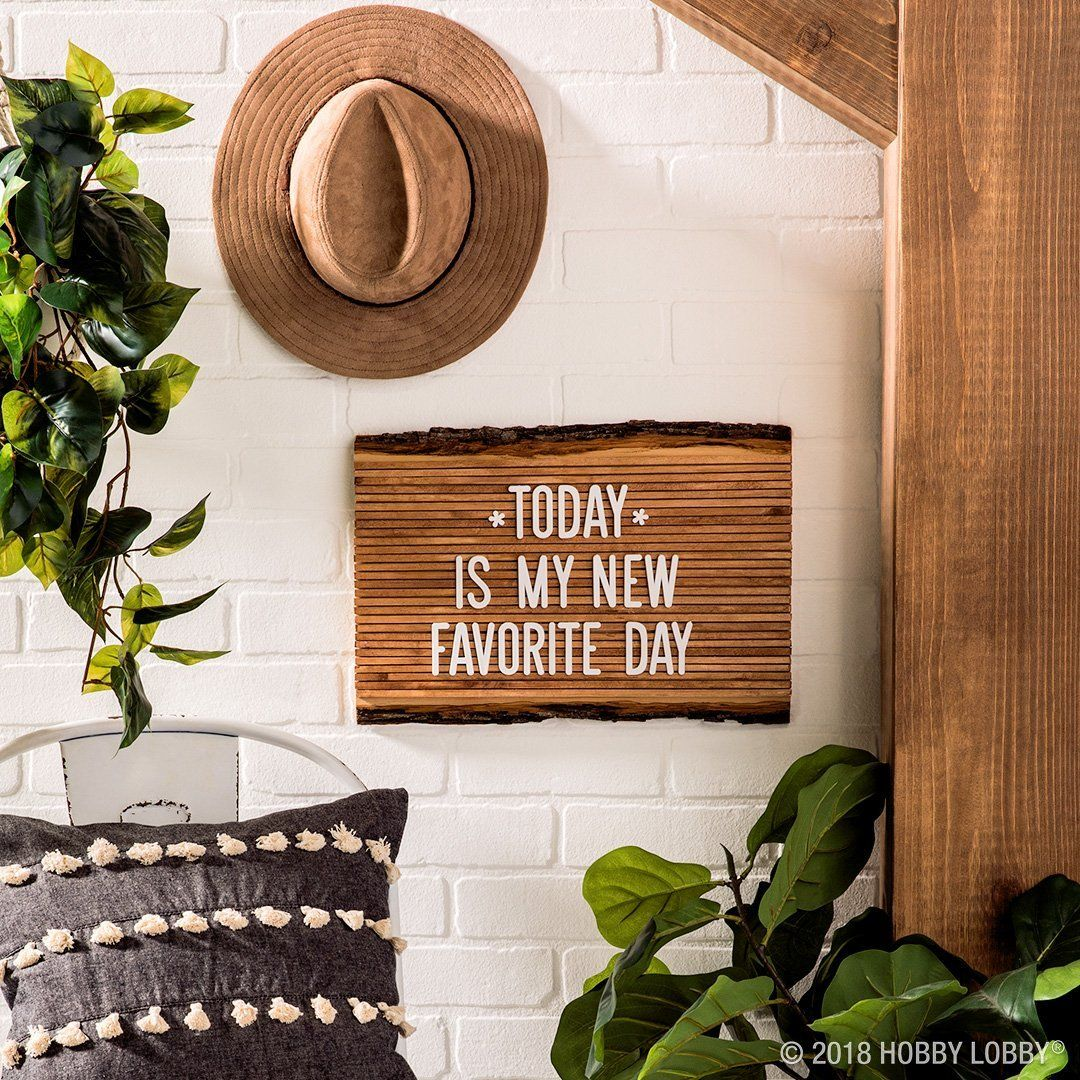 Give Your Space A Natural Feel With A Diy Wood Plank Letterboard Wood Planks Diy Diy Crafts Wood Plank Art