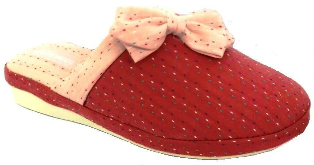 Photo of DE FONSECA ciabatte pantofole donna cotone mod. VERONA E W642 rosso slippers  – …