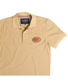 Polo Surpiqûres Beige