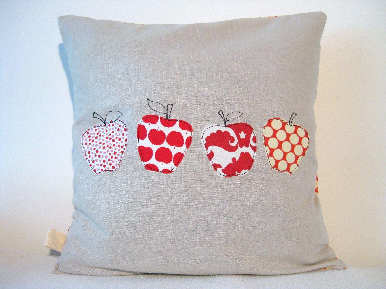 applique apples sewing fall pinterest kissen patchwork und deko. Black Bedroom Furniture Sets. Home Design Ideas