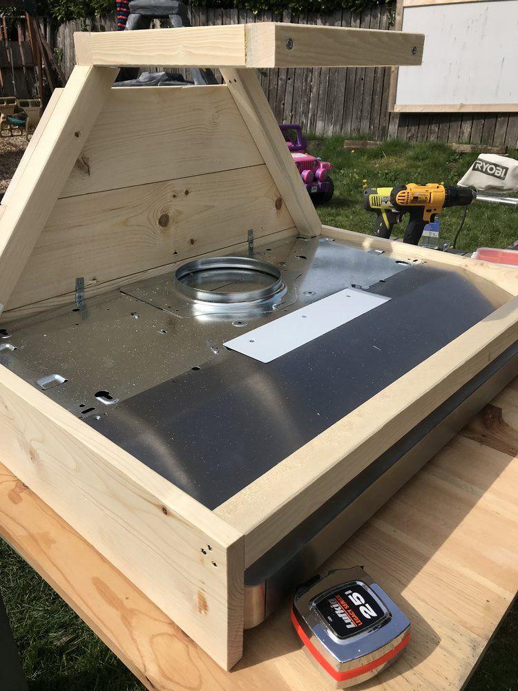 DIY Wood Shiplap Hood Vent — Dreaming of Homemaking Vent