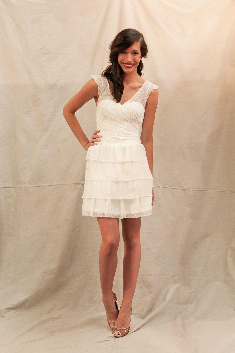 Ivy Aster Short Wedding Dress Wedding Dresses Top Wedding Dress Designers [ 4896 x 3264 Pixel ]