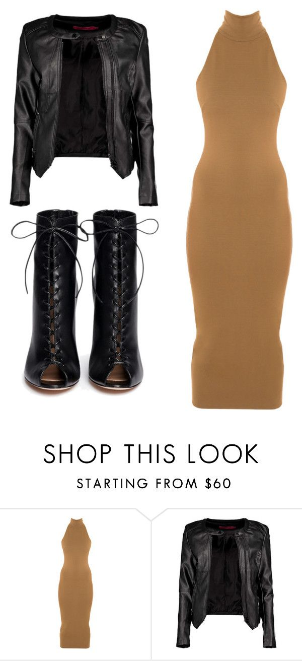 """""""Motorcycle Jacket Love"""" by cherea ❤ liked on Polyvore featuring moda, Torn by Ronny Kobo, Boohoo i Gianvito Rossi"""